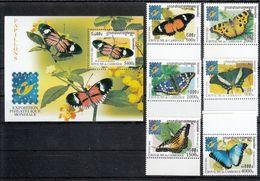 Kambodscha 2001**, BELGICA '01: Schmetterlinge, Kaktus / Cambodia 2001, MNH, BELGICA '01: Butterflies, Kaktus - Cactus