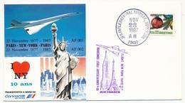 ETATS UNIS - CONCORDE - Premier Vol PARIS / NEW YORK / PARIS - 23 Nov 1987 - Concorde