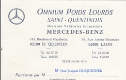 MERCEDES-BENZ  - Saint Quentin - 02 - Visiting Cards