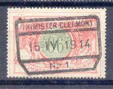 B160 Belgie Spoorwegen Chemin De Fer Stempel THIMISTER CLERMONT N° 1 - Chemins De Fer