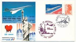 FRANCE - CONCORDE - Premier Vol PARIS / NEW YORK / PARIS - 22/23 Nov 1987 - Concorde