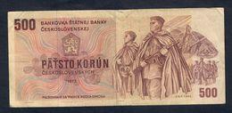 Cecoslovenska Czechoslovakia  500 KORUN 1973 Bel Bb Pick 93 Lotto 1587 - Cecoslovacchia