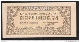 INDONESIA  P15a  10 SEN  17.10.1945   Printing  94 X 43 Mm   UNC. - Indonésie