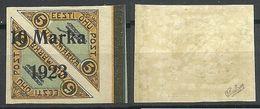 Estonia Estland 1923 Michel 43 B * Signed Nice Margin Bogenrand - Estland