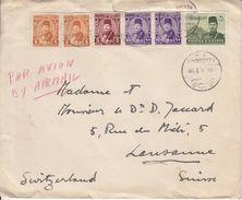 LETTRE POUR LA SUISSE - MULTI AFFRANCHISSEMENT - ENV 1946 - Égypte