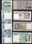 7 Banconote Repubblica Da 1000 A 10000 Lire Buone Ottime Conservazioni Lotto 1600 - [ 2] 1946-… Republik