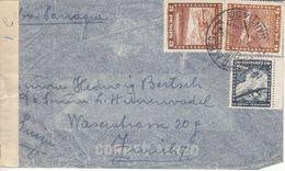 LETTRE CENSUREE POUR LA SUISSE - 1942 - VIA PARAGUAY - Chili