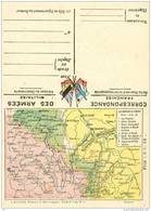 Franchise Militaire - Correspondance Des Armées - Carte Double - Cartes Du Front  - Argonne Et Côte De Meuse  Réf, 01/02 - Marcophilie (Lettres)