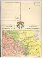 Franchise Militaire - Correspondance Des Armées - Carte Double - Cartes Du Front  - Souain à Verdun - Réf, 09/10 - Marcophilie (Lettres)