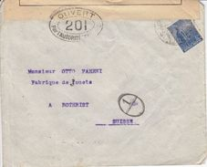 LETTRE CENSUREE POUR LA SUISSE - 1916 - DIVERS CACHETS - Argentine