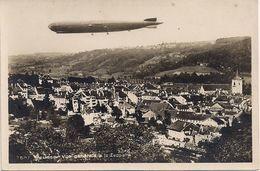 Aviation Dirigeable Zeppelin Sur Moudon - Aeronaves