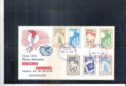 FDC Panama - Déclaration Des Droits De L'Homme - Série Complète Avec Poste Aérienne (à Voir) - Panama
