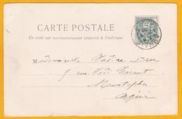 1903  - CP D' Aumale Vers  Moustapha, Algérie  - 5 C Type Blanc - Vue Place Et église - 1900-29 Blanc