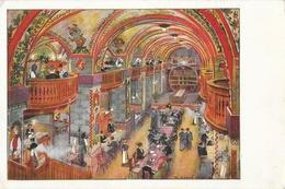 Lithographie De W. Goroz: Grosser Kornhauskeller (Grande Cave) - Bern - Carte Non Circulée - Restaurants