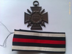 Medalla Cruz De Honor Para Combatientes. 1914-1918. I Guerra Mundial. Alemania - 1914-18