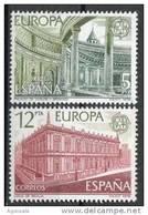 SERIE TIMBRES ESPAGNE NOUVEAUX 1978 EUROPA CEPT PALAIS DE CARLOS V EN GRENADE ET MARCHÉ DE SÉVILLE - Europa-CEPT