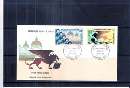 FDC Côte D'Ivoire - Pour Venise-Unesco (à Voir) - Côte D'Ivoire (1960-...)