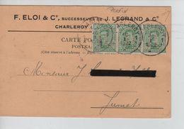 TP Albert 1er S/CP Publicitaire J.Legrand Perforés J.L. C.Charleroi En 1922 V.Jumet AP1078 - Lochung
