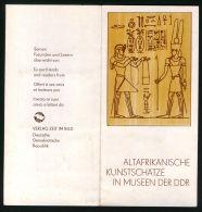 R D A ( DOCUMENT ) : ANTIQUITES  AFRICAINES , A  VOIR . - Briefe U. Dokumente