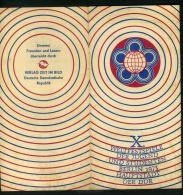 R D A ( DOCUMENT ) : FESTIVAL  MONDIAL  DE  LA  JEUNESSE , A  VOIR . - Briefe U. Dokumente