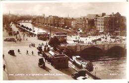 The Liffey & O'Connell Bridge, Dublin, Ireland Real Photo - Dublin