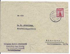 DT- Reich (000638) Propagandabrief NSDAP Kreisleitung Cham Kötzing Gau Bayrische Ostmark, Gelaufen Am 23.3.1939 - Covers & Documents