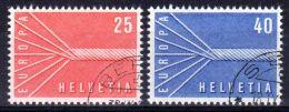 1957;  Suisse; YT 595 + 596, Oblitéré, Lot 48369 - Europa-CEPT