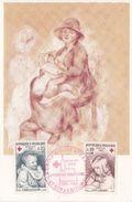 CARTE POUR LA CROIX ROUGE - 1965 - AVEC NUM Y&T 1466-1467 - N/C - Briefe U. Dokumente