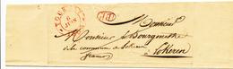 391/25 - Lettre Précurseur TOURNAY 1835 En PORT PAYE Vers Le Bourgmestre De LOKEREN - 1830-1849 (Belgique Indépendante)