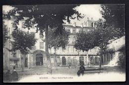 CPA ANCIENNE- FRANCE- BEZIERS (34)- PLACE SAINT-APHRODISE EN ÉTÉ- TRES GROS PLAN- ANIMATION - Beziers