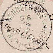 """Relais :PK PZ (B) """"BRUXELLES 14.IX.1920"""" + """"VII OLYMPIADE ANVERS"""" Naar RELAIS HONDELANGE (open Sterren) ONBEKEND CATAL ! - Bolli A Stelle"""