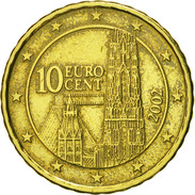 Autriche, 10 Euro Cent, 2002, SPL, Laiton, KM:3085 - Autriche