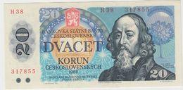 TCHECOSLOVAQUIE 20 Couronnes 1988 P95 VF++ - Tchécoslovaquie