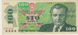 TCHECOSLOVAQUIE 100 Couronnes 1989 P97 AU-UNC - Tschechoslowakei