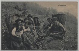 Contadine Ticinesi - Tessinerinnen Beim Holz Sammeln - TI Tessin