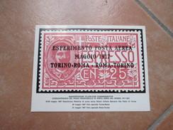 1967 ANNULLO Speciale 1àvolo Postale Roma Torino Francobolli Italia Vaticano Su Cart.Ufficiale Torino Posta Aerea - 1961-70: Marcophilie