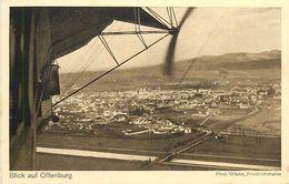 A-17.7286 :  IM ZEPPELIN-LUFTCHIFF.  BLICK AUF OFFENBURG - Dirigeables