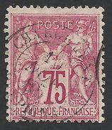 France, 75 C. 1876, Sc # 75, Mi # 66I, Used - 1876-1878 Sage (Type I)