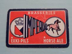 Brasseries Imperial EXKI-PILS HORSE-ALE ( SCHOPPEN 5 ) - ( Details - Zie Foto´s Voor En Achter ) !! - Playing Cards (classic)