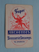 Super ARCHENNES Brasserie DECAMPS ( SCHOPPEN BOER ) - ( Details - Zie Foto´s Voor En Achter ) !! - Playing Cards (classic)