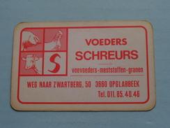 Voeders SCHREURS Weg Naar Zwartberg OPGLABBEEK ( KLAVEREN 2 ) - ( Details - Zie Foto´s Voor En Achter ) !! - Playing Cards (classic)