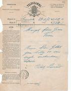 393/25 - Formule De Télégramme 1873 - D' ERQUELINNES à VERVIERS - 2 Cachets Télégraphiques VERVIERS RECOLLETS - Telegraph