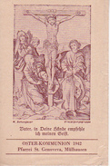 Andachtsbild - Vater, In Deine Hände... - Oster-Kommunion 1942 - Pfarrei St. Genoveva Mülhausen - 10*7cm (29469) - Andachtsbilder