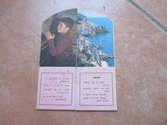 1963 Opera Don Guanella Orfanotrofio Napoli Anna E Natalia Amalfi Salerno Sagomato - Calendari