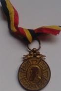 Medalla Del Rey Leopoldo II. Bélgica. 1865-1905. - Belgique