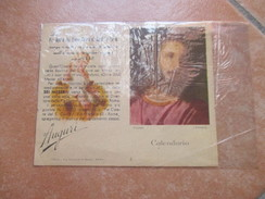 1946 Calendarietto Pia Opera Del Sacro Cuore Di Gesù In Roma Auguri Foto Quadro Tiziano Alinari - Calendari