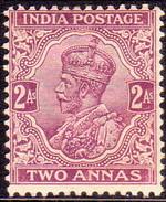 INDIA 1911 SG #168 2a MH Deep Mauve CV £12 - India (...-1947)