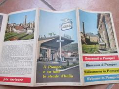 Welcome To POMPEI Pubblicità Prodotti Benzina AQUILA 1959 Brochure Turistica - Mappe