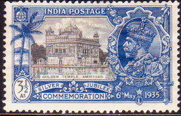 INDIA 1935 SG #245 3½a MH Small Thin On Back - 1911-35 Roi Georges V