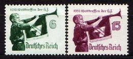 Deutsches Reich, 1935, Mi 584-585 X **, Welttreffen Der Hitler-Jugend [020717XIX] - Deutschland